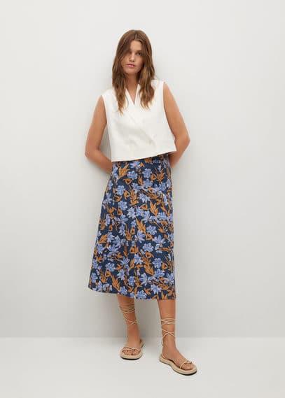 Хлопковая юбка с принтом - Cris-h