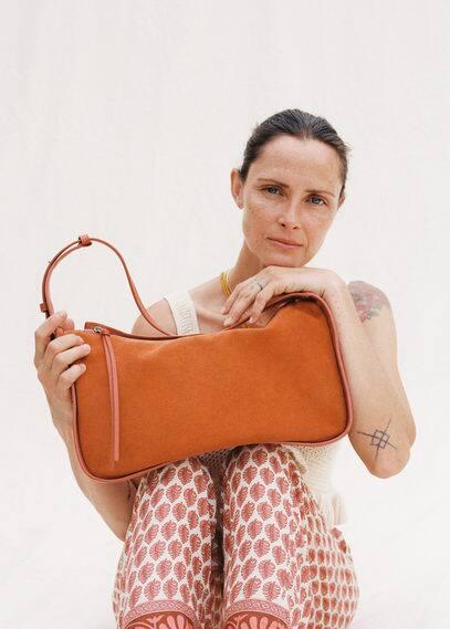Кожаная сумка-багет - Galdana