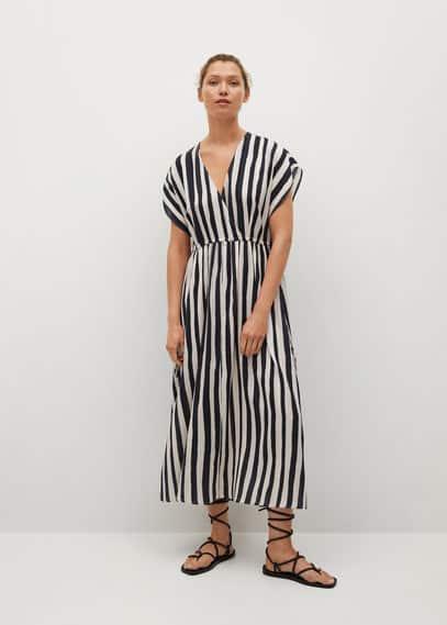 Платье-колокол в полоску  - Canaria