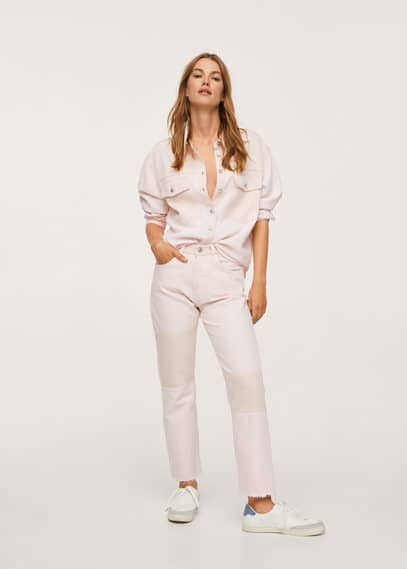 Рубашка с контрастными карманами - Marble