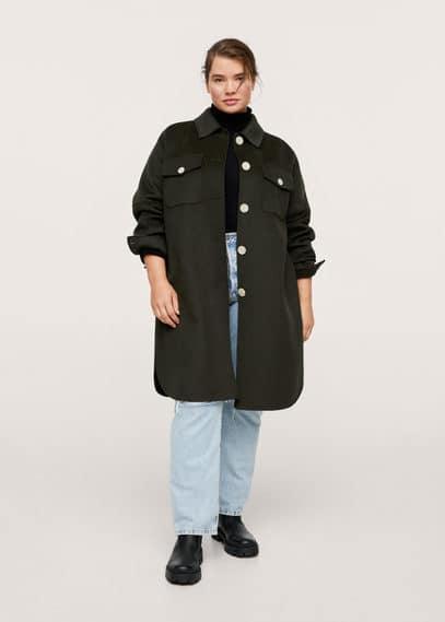 Объемное пальто, шерсть - Kafka