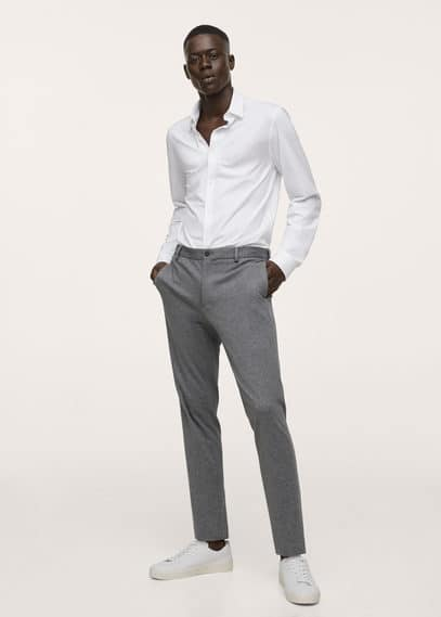 Chemise costume slim-fit coton stretch