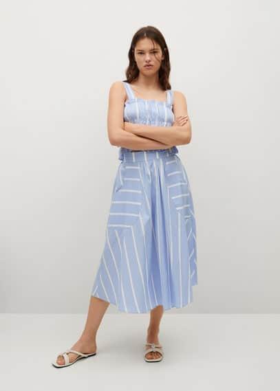 Хлопковая юбка с принтом - Siu-h
