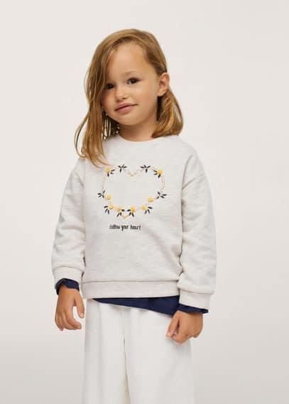 Bedrukt sweatshirt met pompons