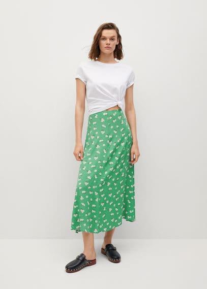 Миди-юбка с принтом - Sea