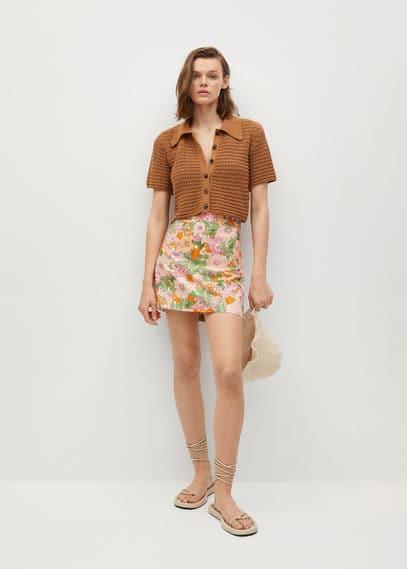 Мини-юбка с цветочным принтом - Mecano