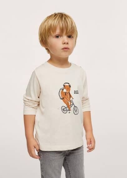 Bedrukt T-shirt met lange mouwen