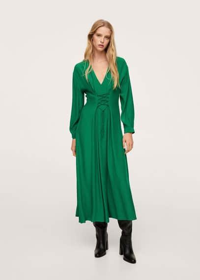 Платье со шнуровкой-корсетом - Crosser от Mango