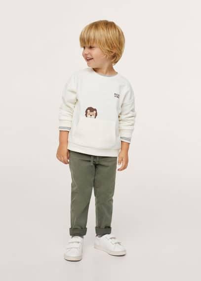 Bedrukt katoenen sweatshirt