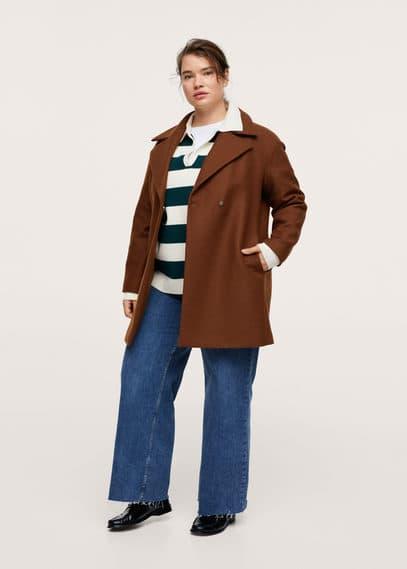 Пальто с лацканами шерсть - Tierra1