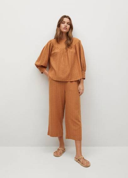 Фактурная блузка с пуговицами - Textl-h