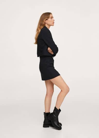 Мини-юбка с поясом - Danna Mango черного цвета
