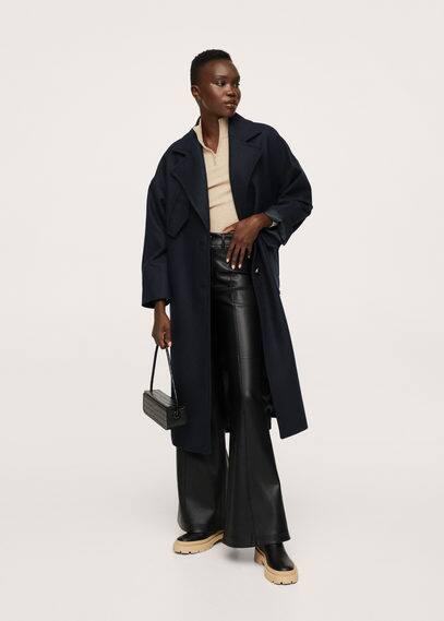 Пальто с карманами шерсть - Pocket