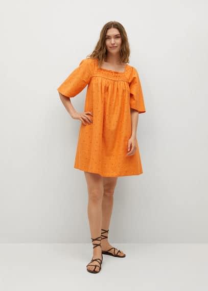 Фактурное платье из хлопка - Mexico