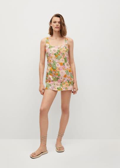 Комбинезон с цветочным принтом - Mecano