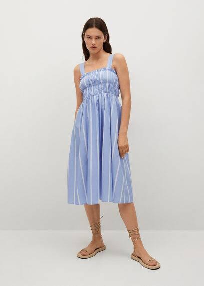 Хлопковое платье в полоску - Siu-h