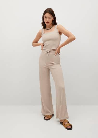Трикотажные брюки в рубчик - Rooibos