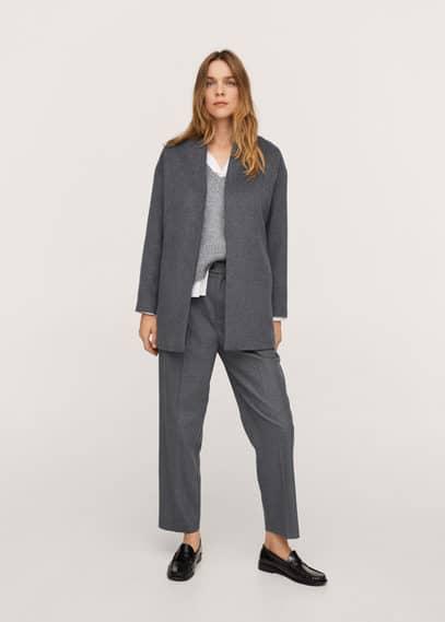 Пальто из шерсти с поясом - Turmix