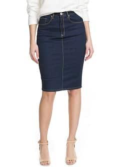 Dark denim skirt - Women | MANGO USA