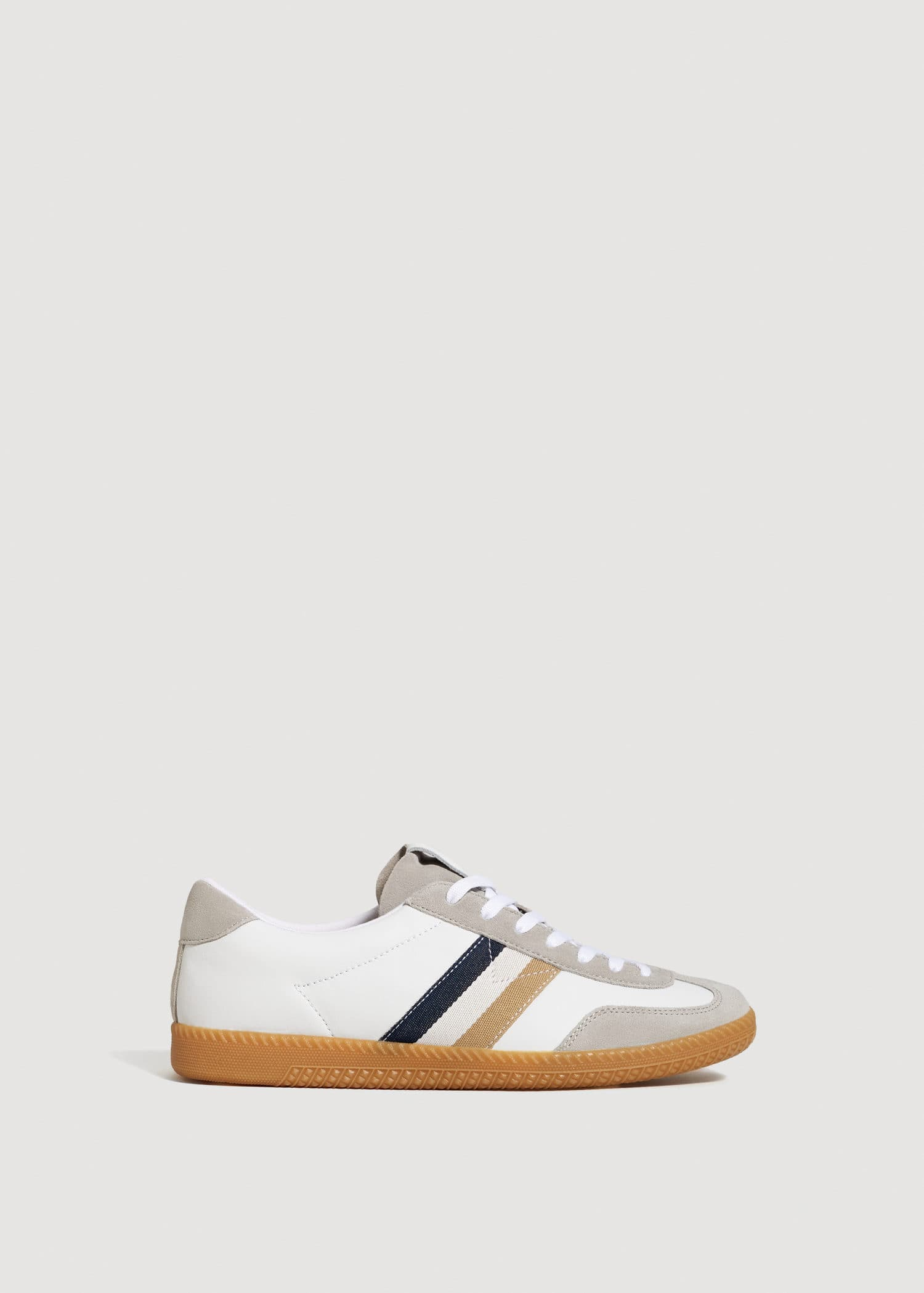 Panels leather sneakers Man | OUTLET Norway