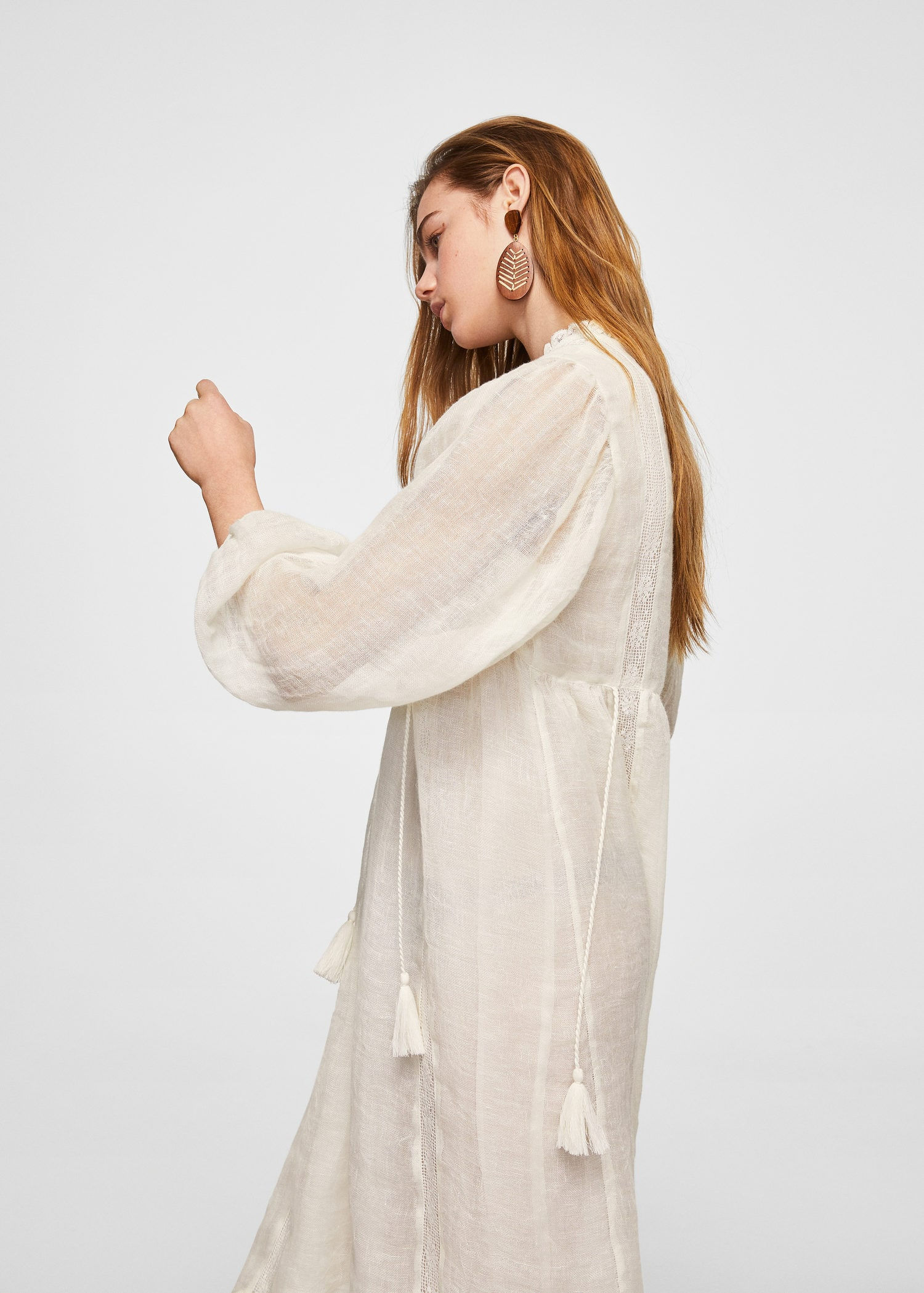 Embroidery Linen Dress by Mango