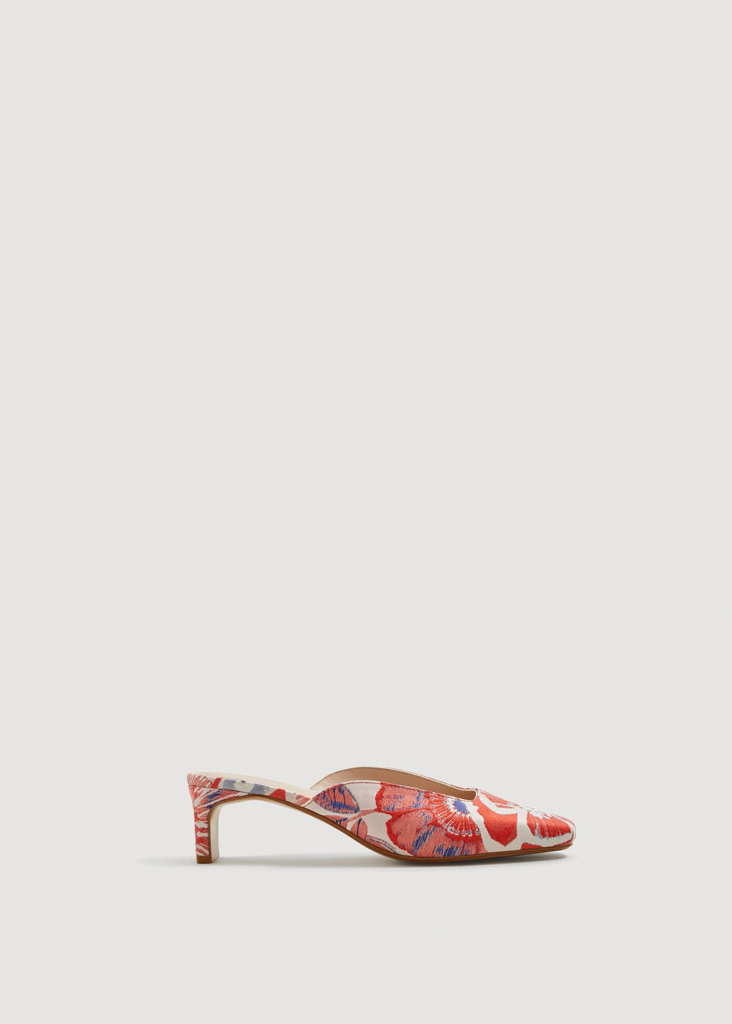 Floral Jacquard Mules by Mango