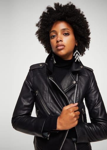 nueva llegada 138cd c1ccc Leather biker jacket