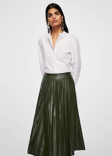 Pleated midi skirt - f foMidi Woman   MANGO Angola 90d4a6ab4bbc
