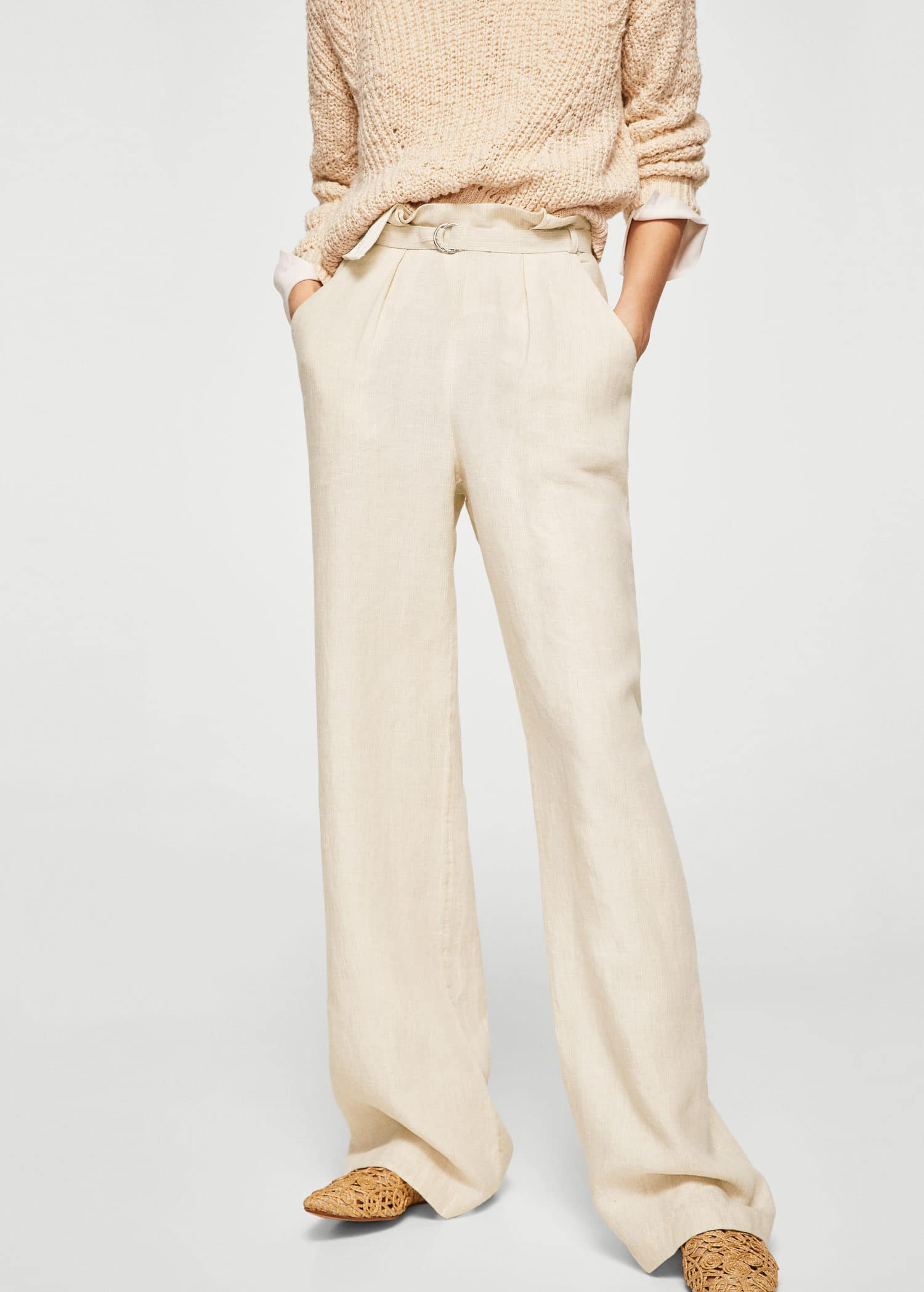 Belt line trousers