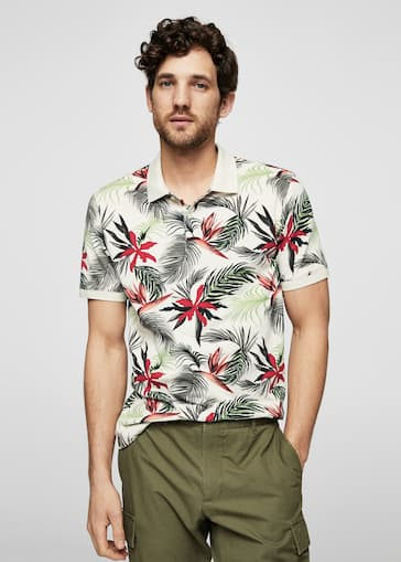 bb774039 Tropical print polo shirt - Man | MANGO Man Jordan