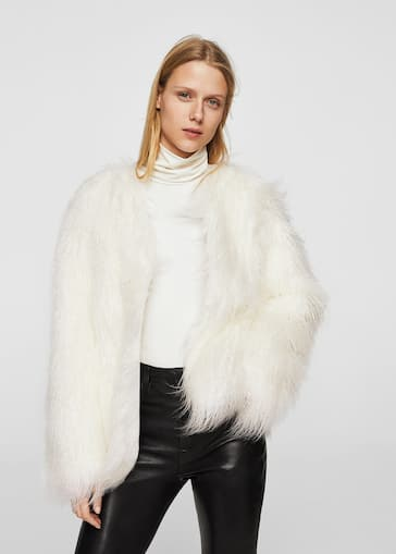 Faux fur coat - Women | MANGO USA