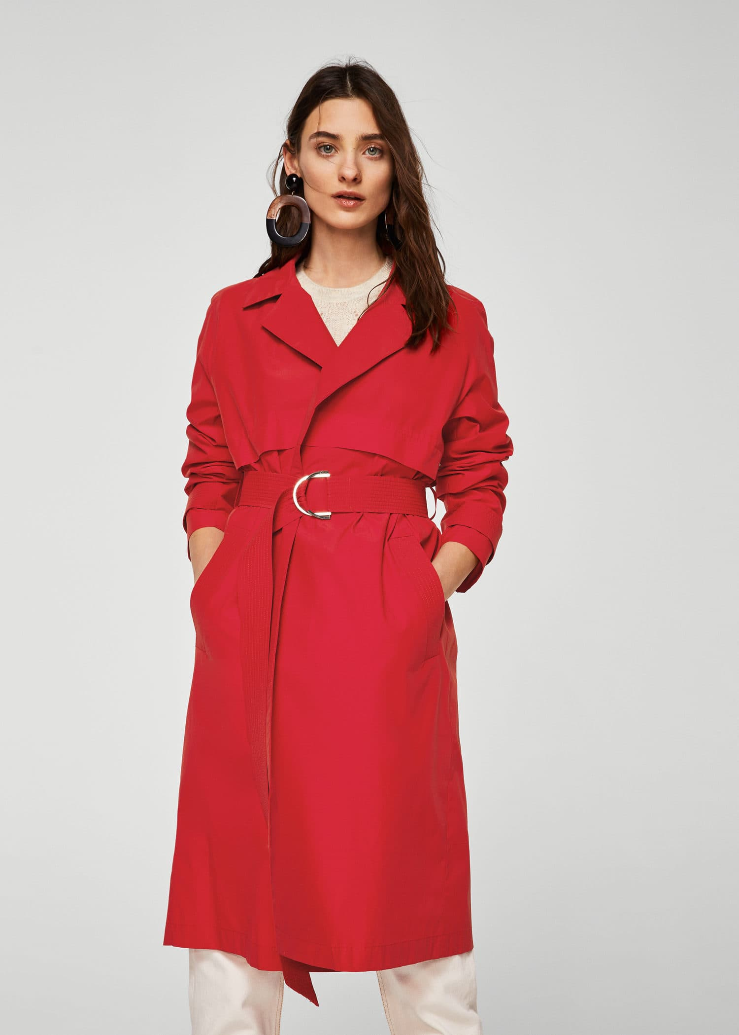 Classic Belted Trench by Mango