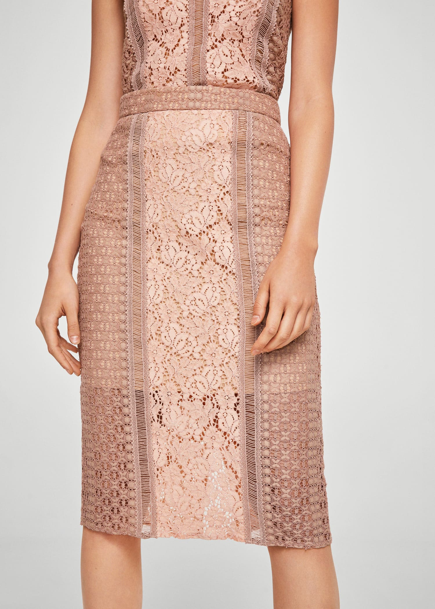 Guipure Pencil Skirt by Mango