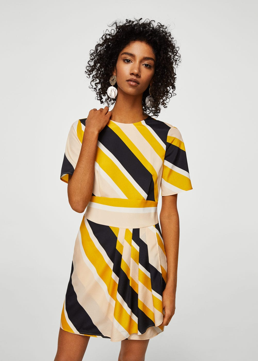Cut-out striped dress | MNG
