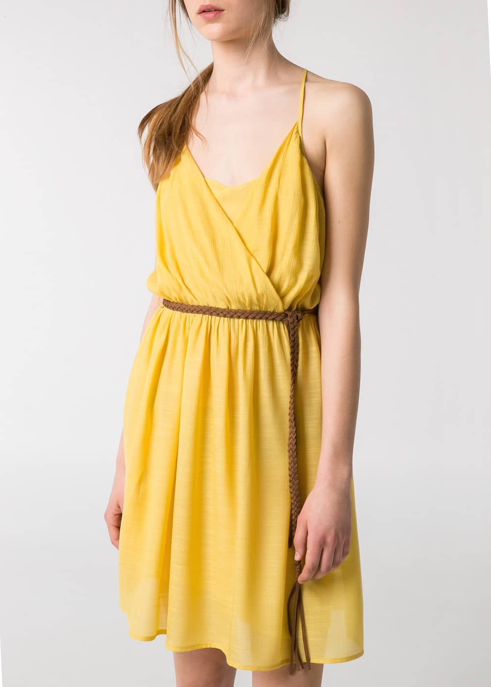Belted wrap dress | MANGO