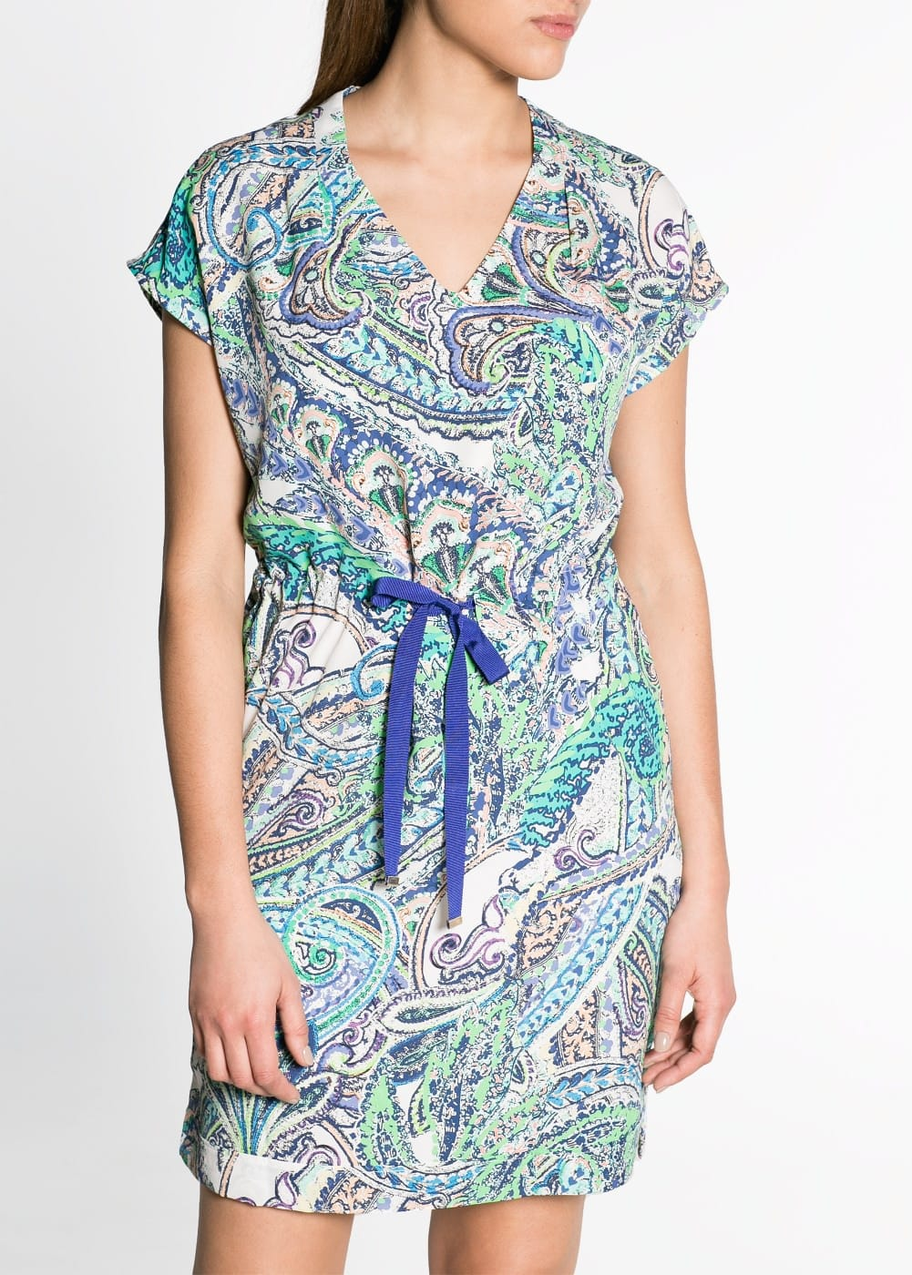 Multicolor paisley print dress | MANGO