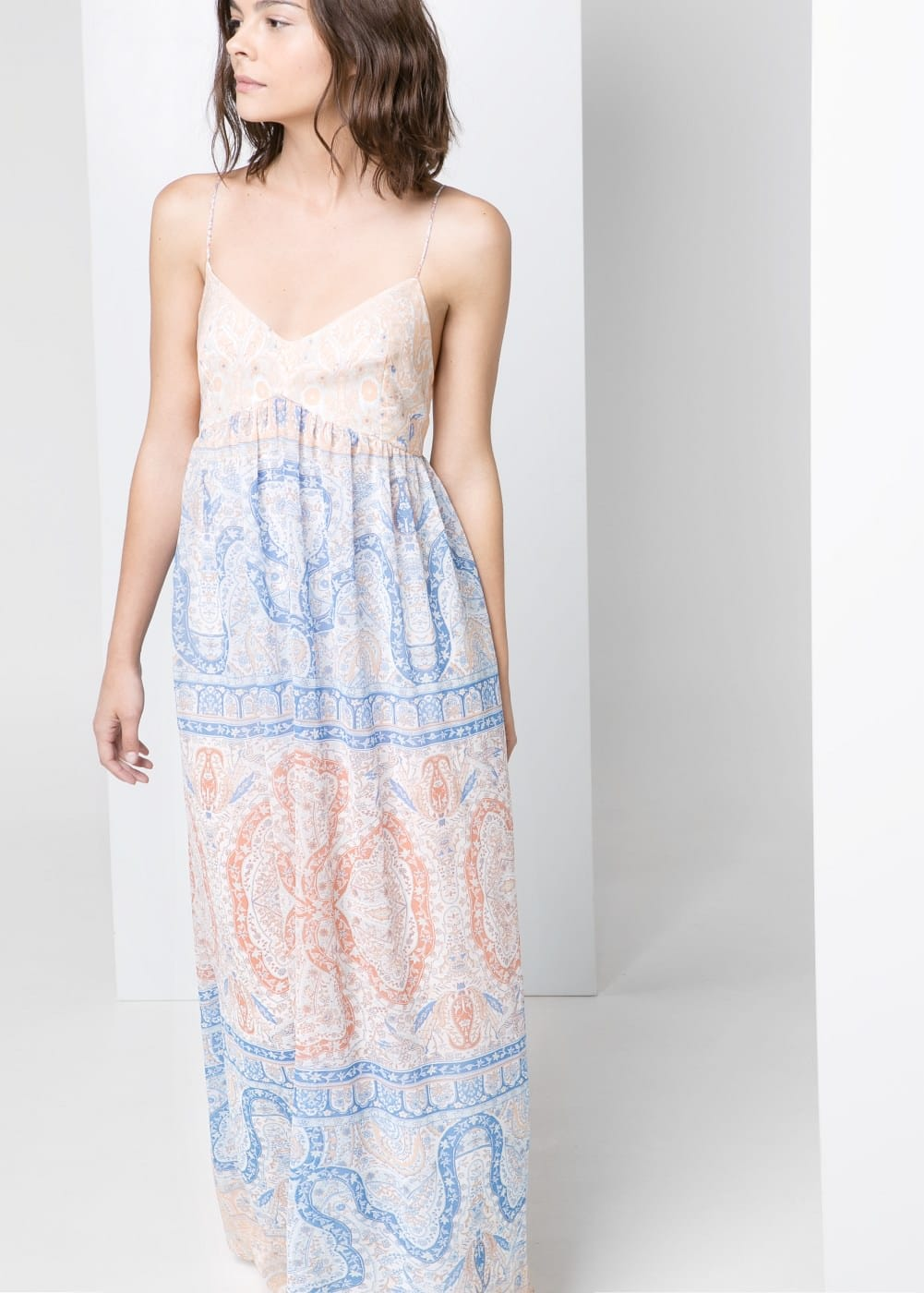 Baroque long dress | MANGO