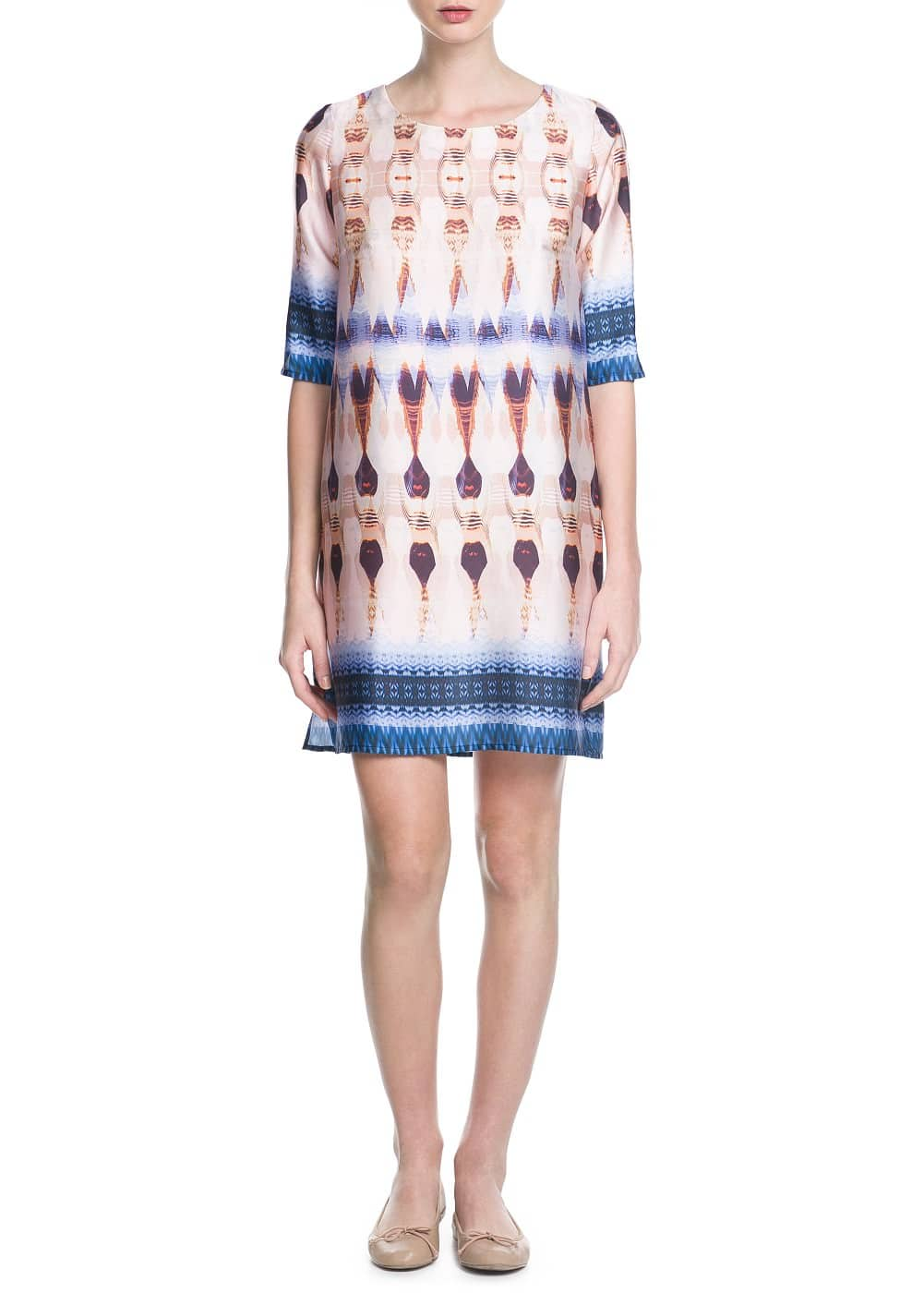 Printed shift dress | MANGO