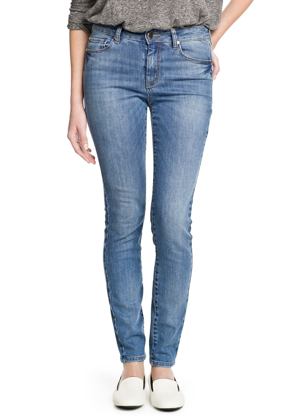 High waist london jeans | VIOLETA BY MANGO