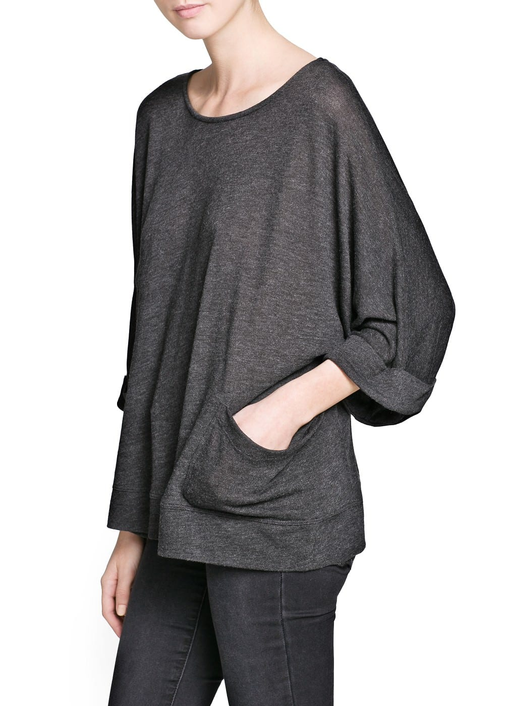 Dolman sleeve pocket t-shirt | MANGO