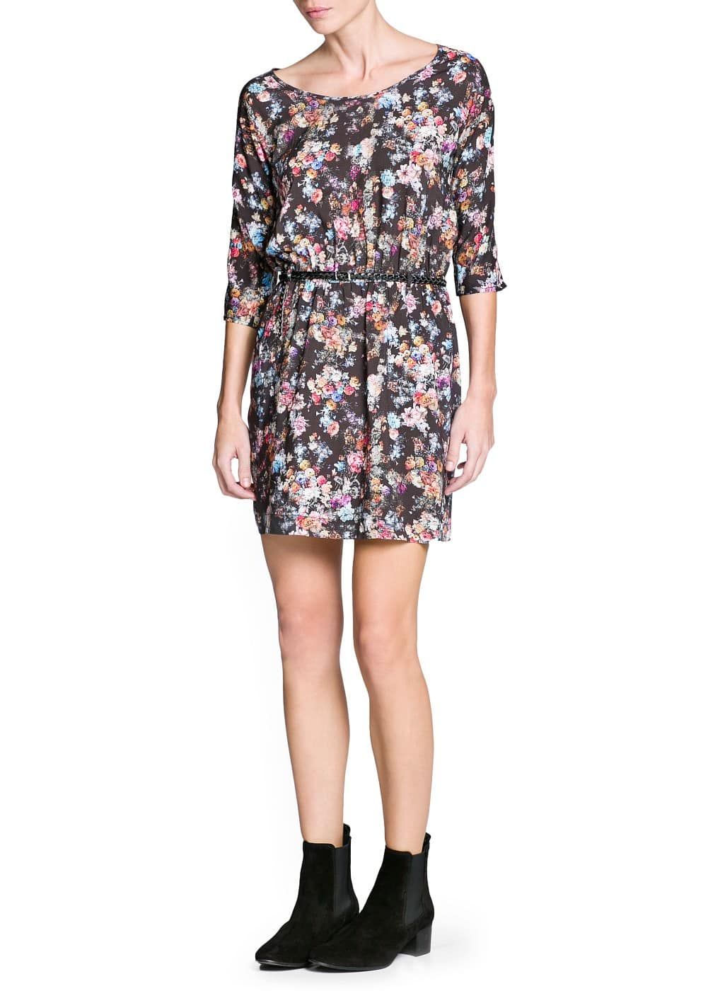 Floral print lightweight dress | MANGO