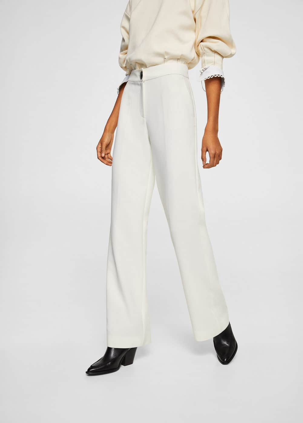 High-waist palazzo trousers | MNG