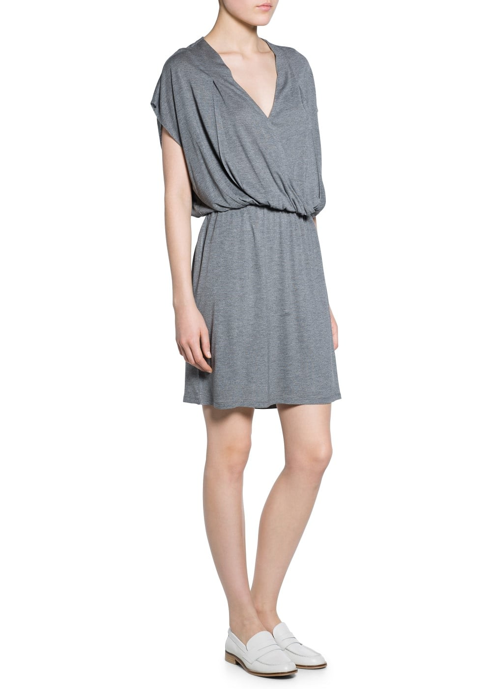 Wrap neckline dress | MANGO