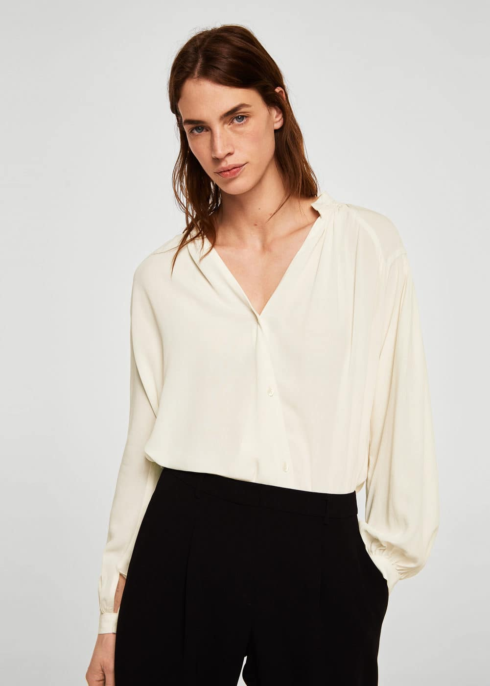 Mango - Ruched detail blouse - 1