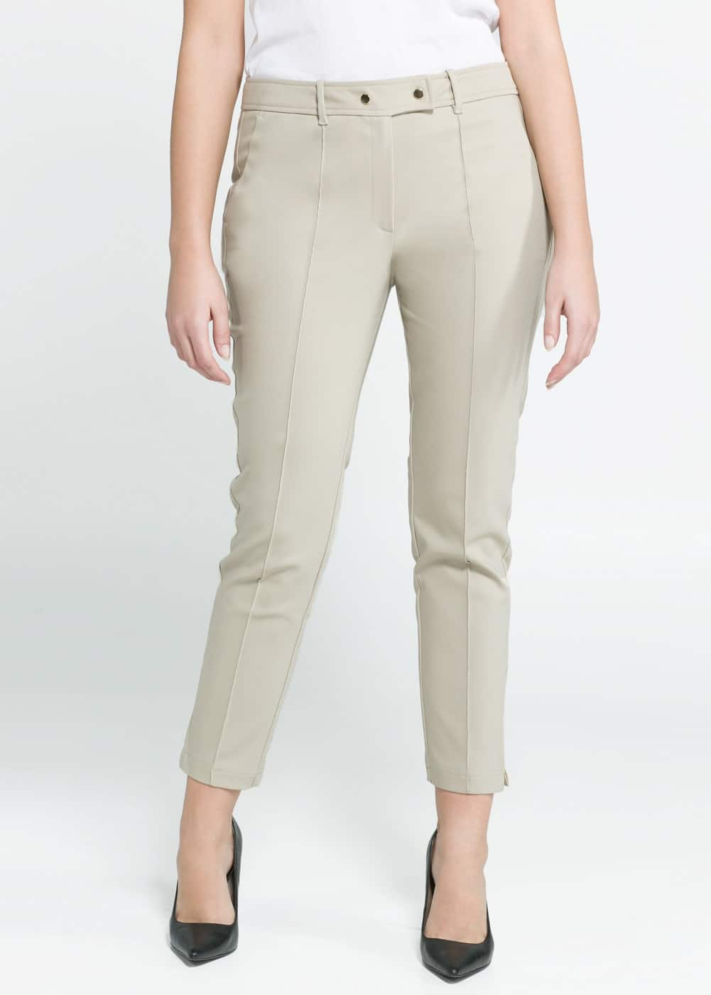 Pleated slim-fit trousers | MANGO