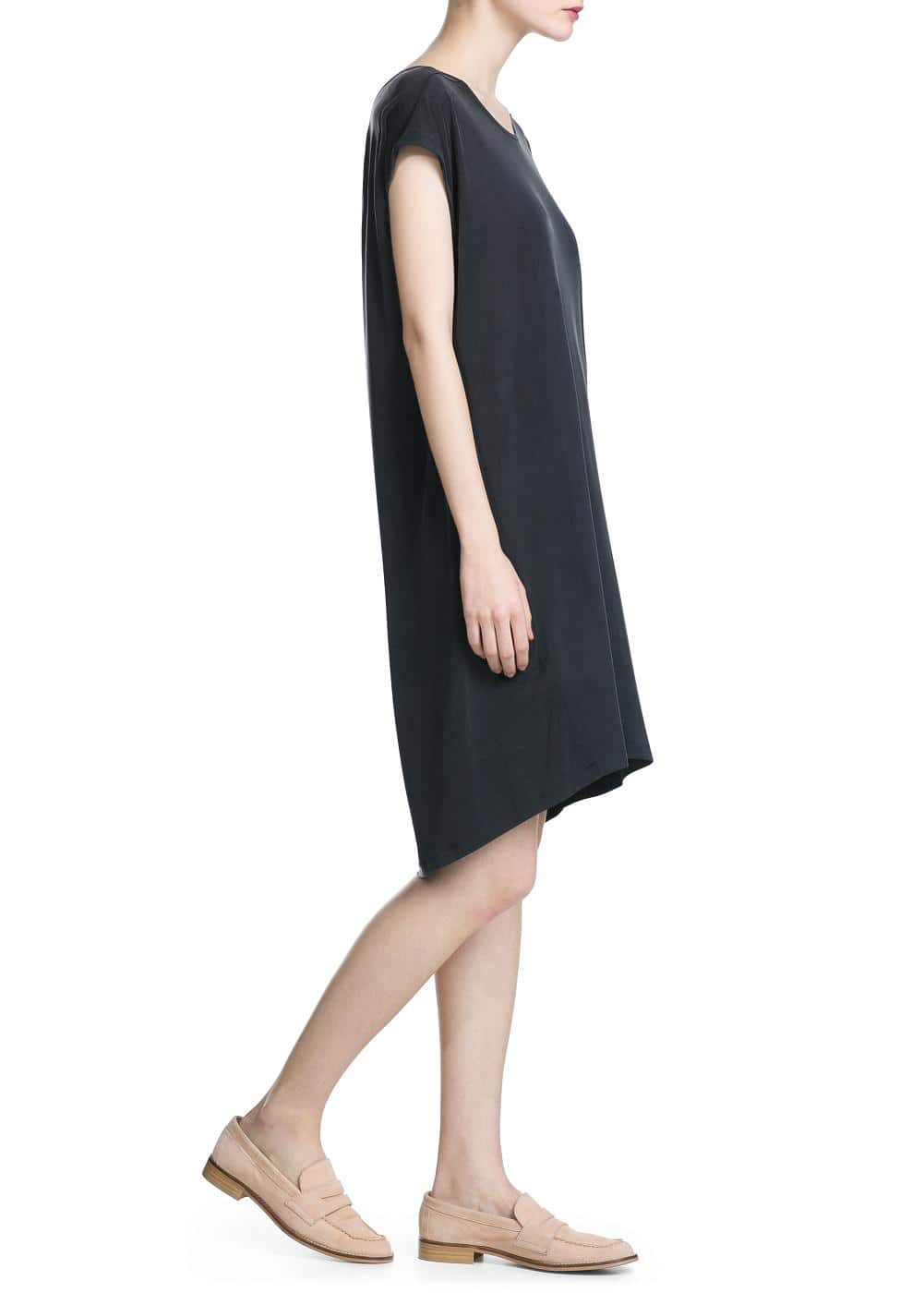 Cupro oversize dress | MANGO