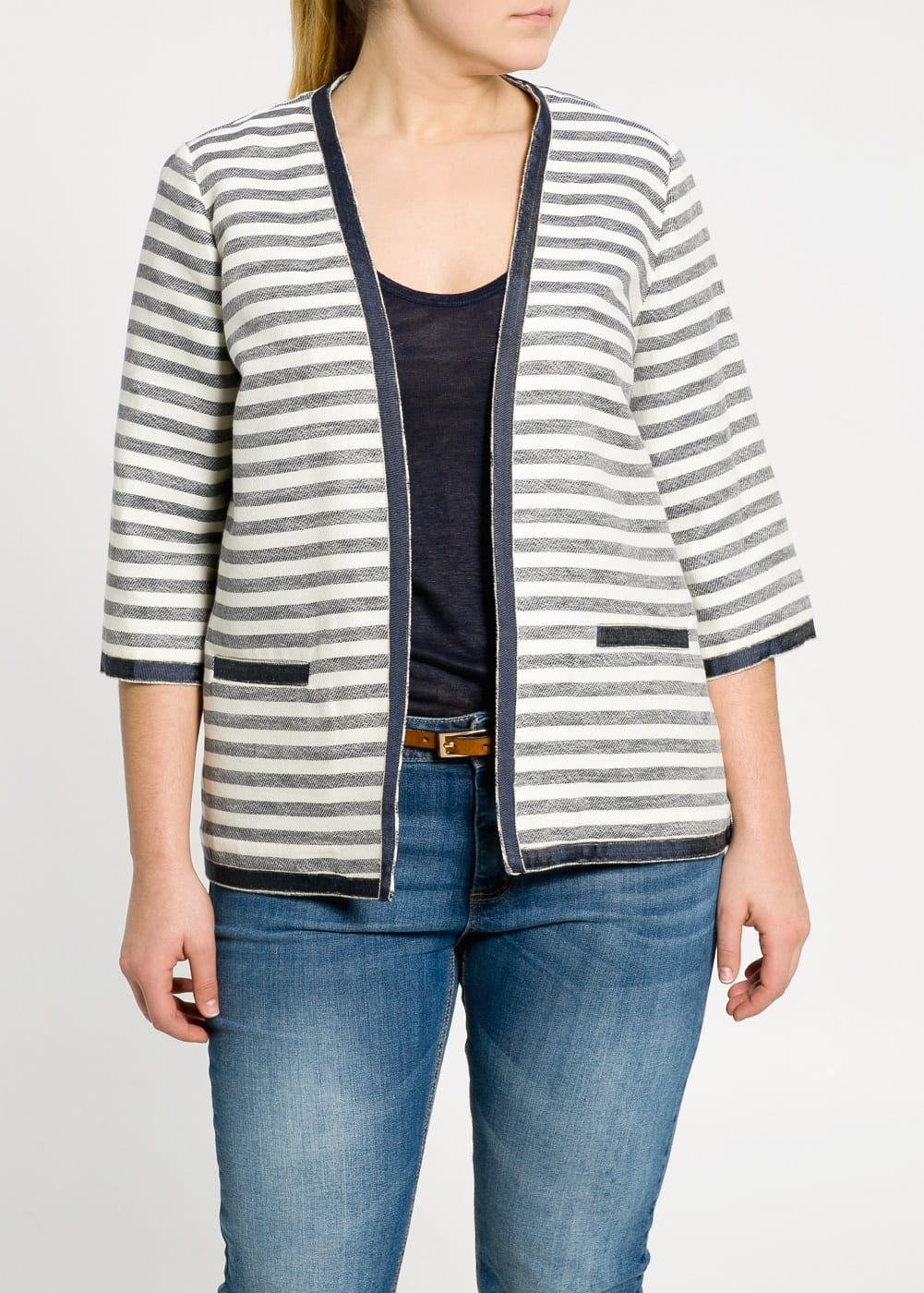 Grosgrain striped jacket | MANGO