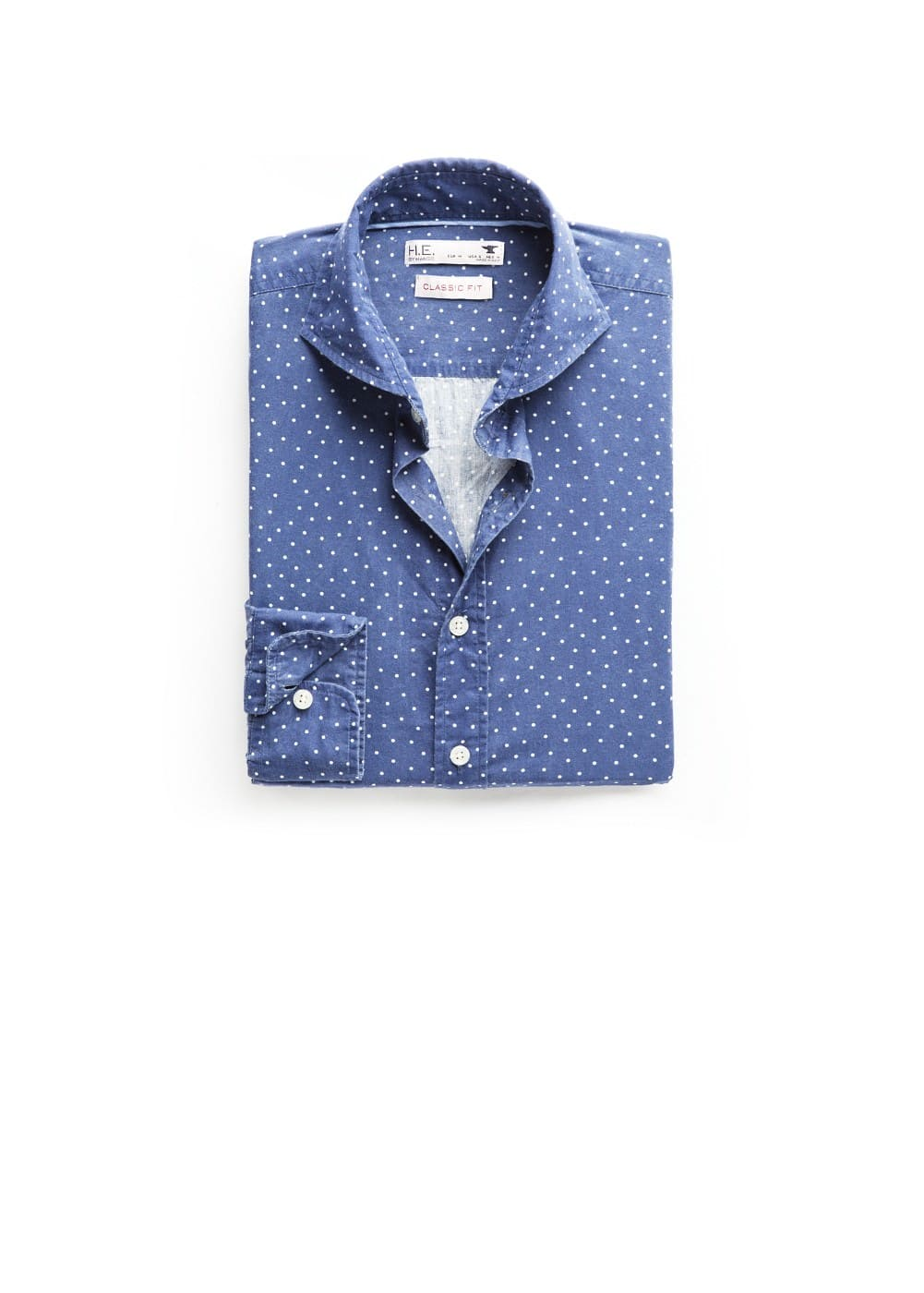 Camisa slim-fit lunares | MANGO MAN