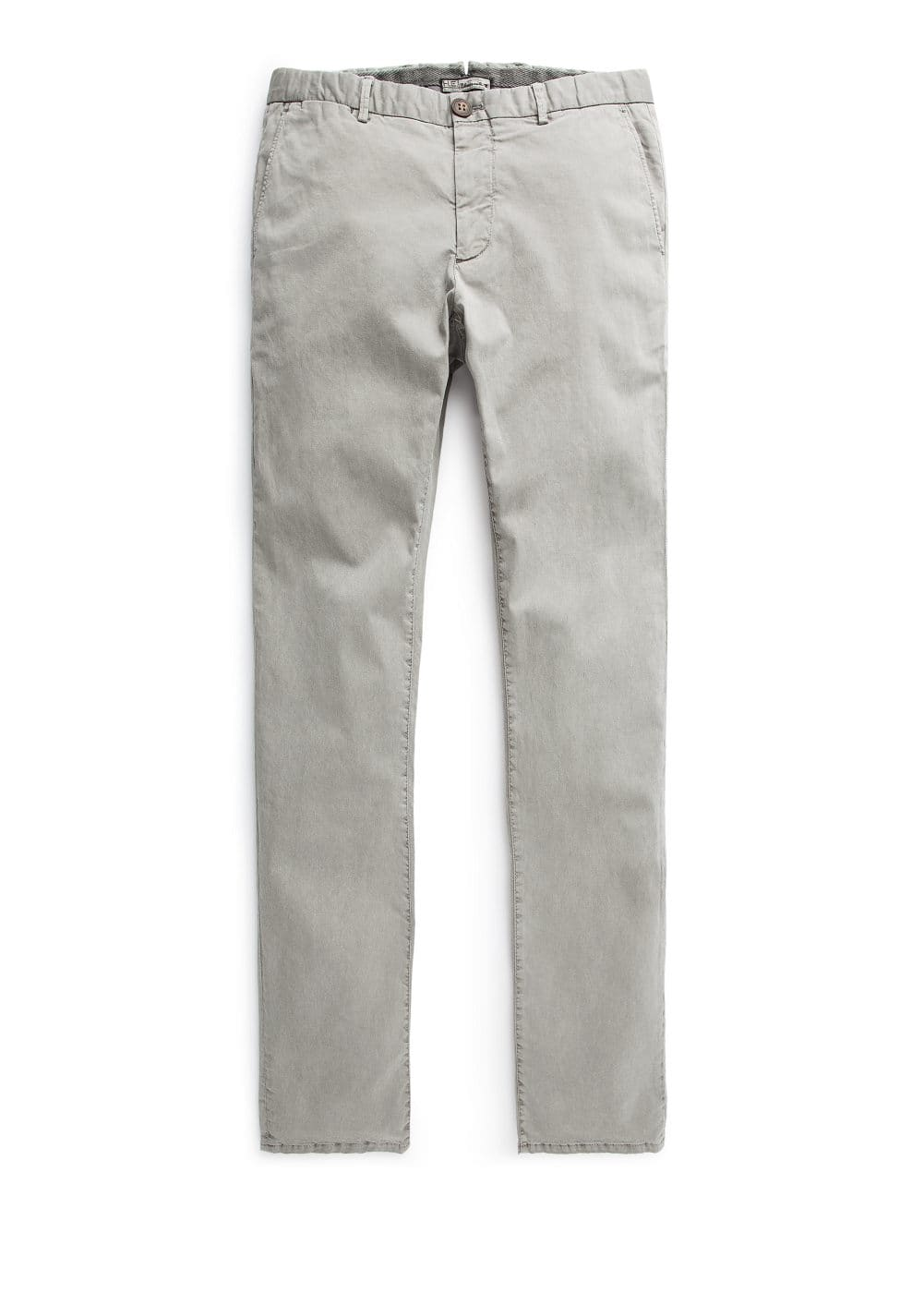 Slim-fit washed cotton chinos | MANGO