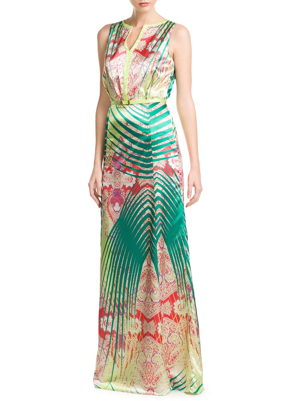 Printed satin dress | MANGO